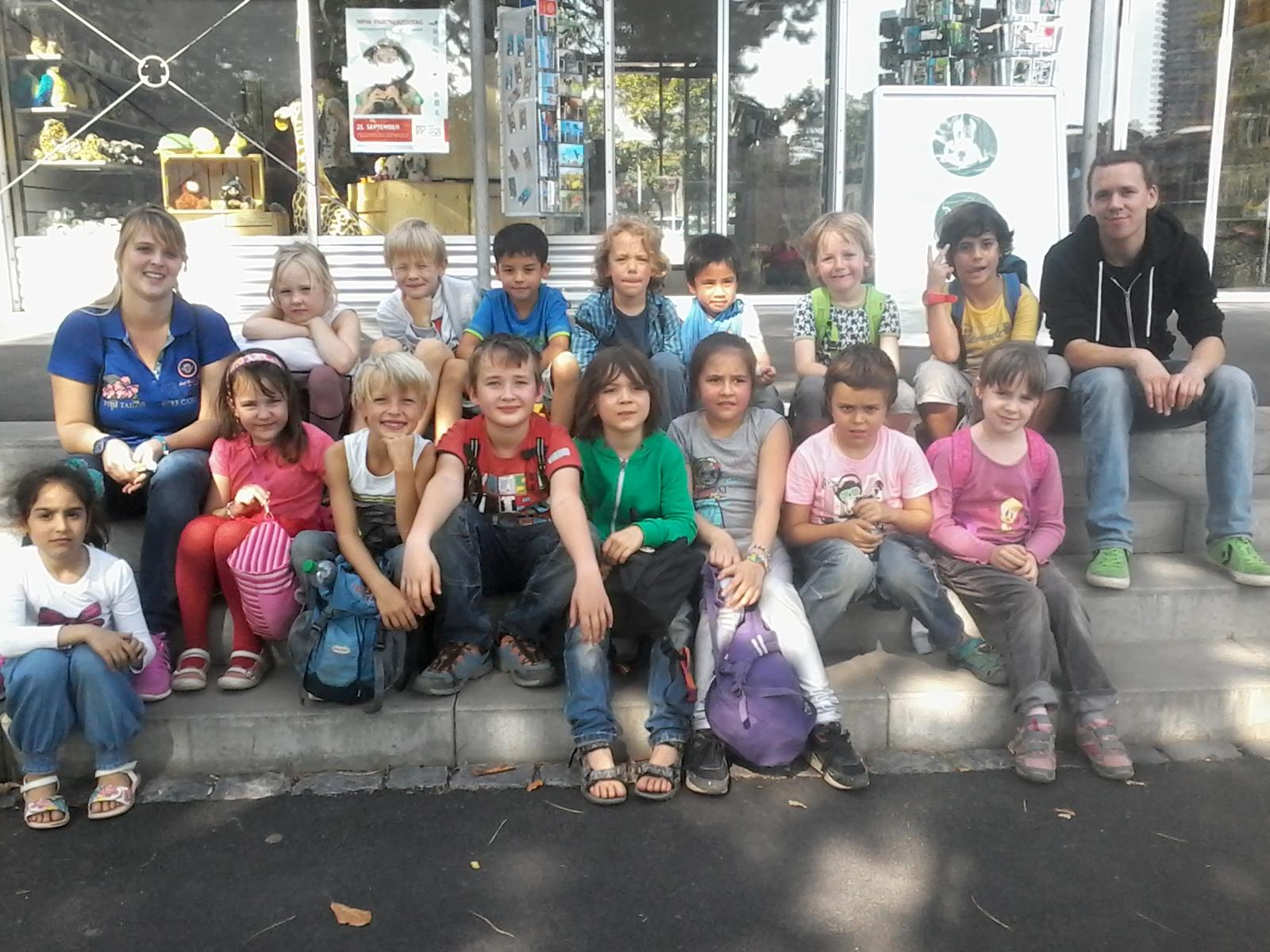 Klassenfoto 2014 im Zoo